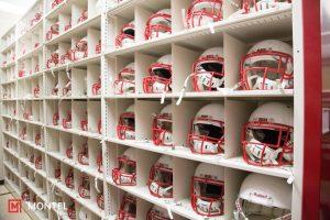 Smartshelf pour casques de Football